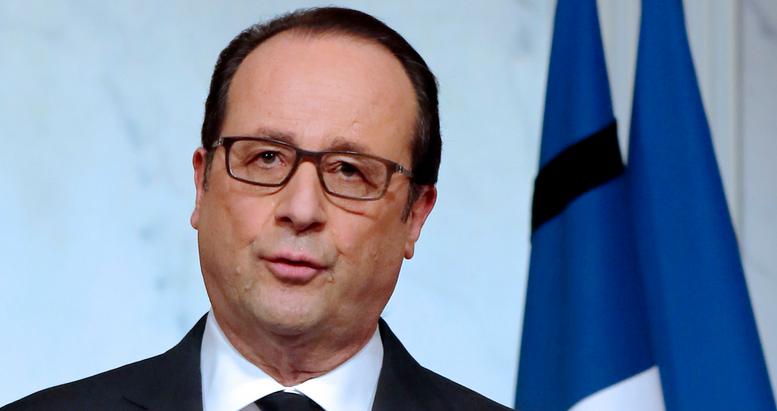 François Hollande lors d'un discours