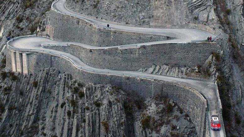 Les routes du rallye Monte-Carlo