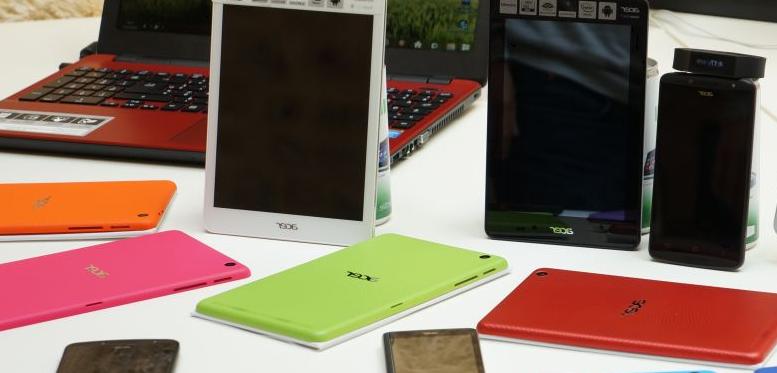 Plusieurs tablettes et smartphones sous Android