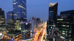 La ville de Seoul de nuit