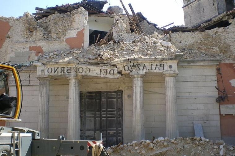 Séisme à Aquila en 2009