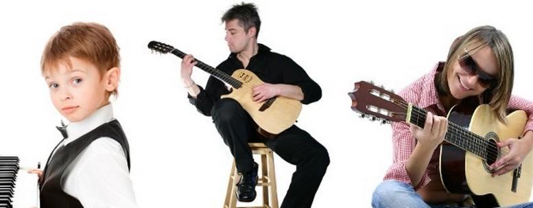 Des musiciens qui apprennent