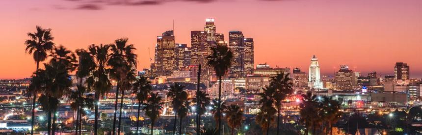 Une large vue sur la ville de Los Angeles