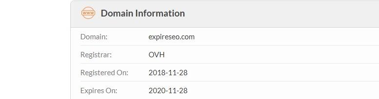 Illustration des dates d'expiration d'un nom de domaine