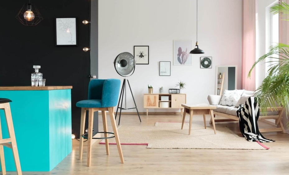 Salon décoré