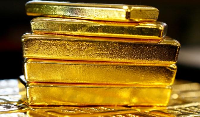 Lingots d'or pile